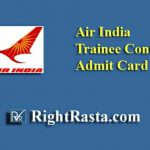 Air India Trainee Controller Admit Card 2019