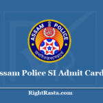 Assam Police SI Admit Card 2020 (Out) | Download SLPRB Sub Inspector Hall Ticket