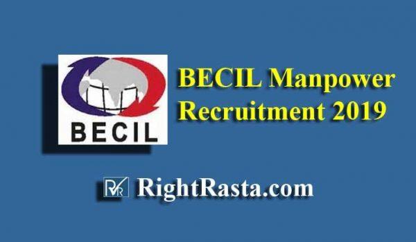 BECIL Manpower Recruitment 2019