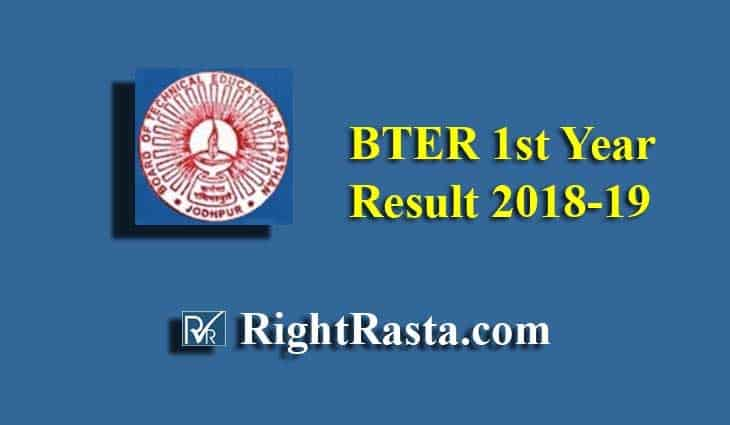BTER 1st Year Result 2018-19