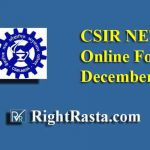 CSIR NET Online Application Form December 2019