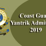 Coast Guard Yantrik Admit Card 2019