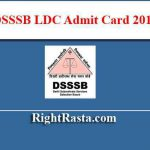 DSSSB LDC Admit Card 2019