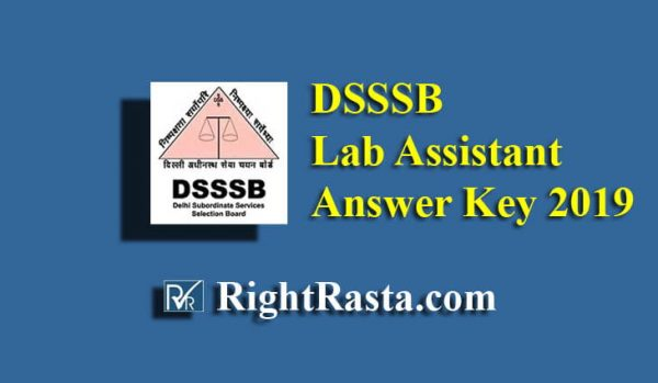DSSSB Lab Assistant Answer Key
