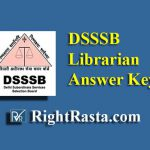 DSSSB Librarian Answer Key 2019