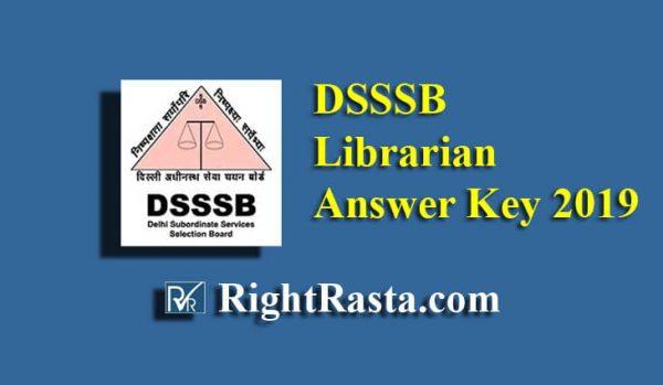 DSSSB Librarian Answer Key