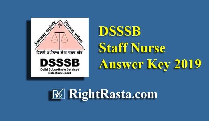 DSSSB Staff Nurse Answer Key