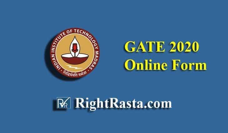 GATE Online Application Form 2020