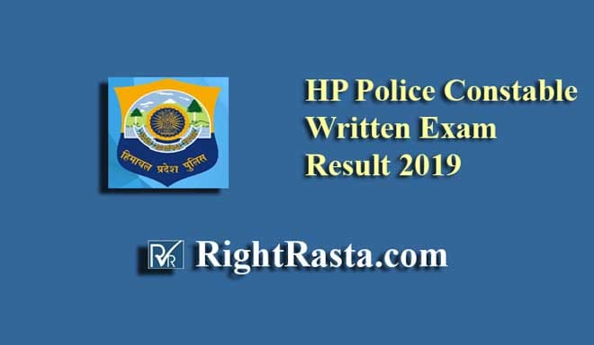 HP Police Constable Written Exam Result 2019