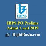 IBPS PO Prelims Admit Card 2019