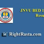 JNVU BED 1st Year Result 2019