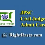 JPSC Civil Judge Mains Admit Card 2019
