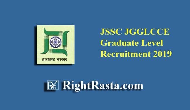 JSSC JGGLCCE Graduate Level Recruitment 2019