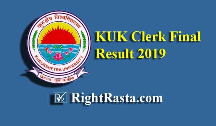 KUK Clerk Final Result