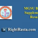MGSU Bikaner Supplementary Result 2019