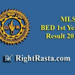 MLSU BED 1st Year Result 2019