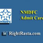NMDFC Office Assistant Admit Card 2019