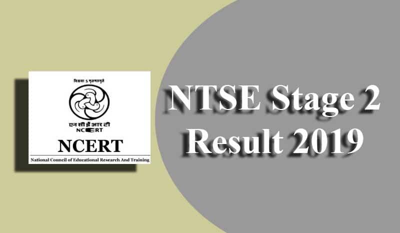 NTSE Stage 2 Result 2019