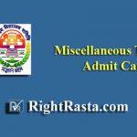 NVS Miscellaneous Teacher Admit Card 2019