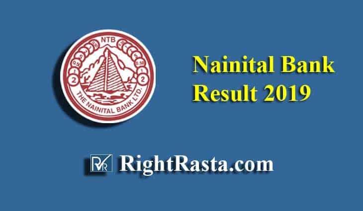 Nainital Bank Result 2019