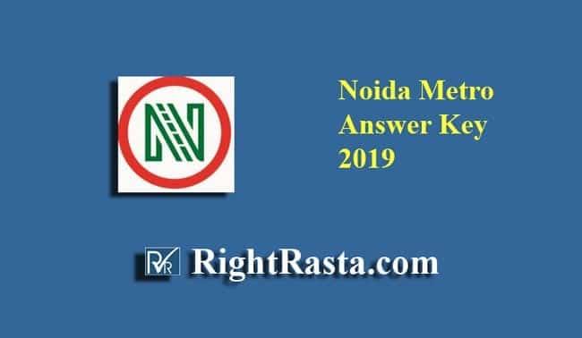 Noida Metro NMRC Answer Key 2019