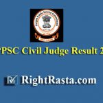 PPSC Civil Judge Result 2019