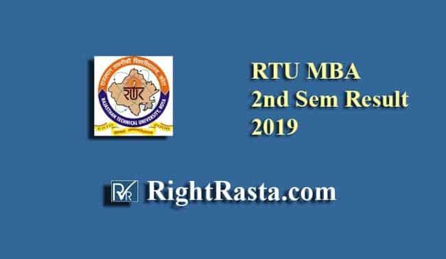 RTU MBA 2nd Sem Result