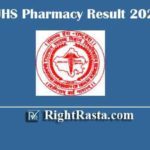 RUHS Pharmacy Result 2020 | Download 1st 2nd 3rd 4th 5th End Semester Exam Results