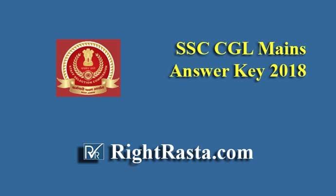SSC CGL Mains Answer Key 2018