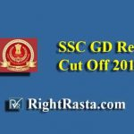 SSC GD Revised Cut Off 2018-19