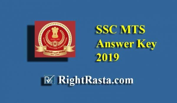 SSC MTS Answer Key 2019