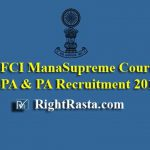 Supreme Court SPA & PA Recruitment 2019