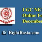 UGC NET Online Form December 2019