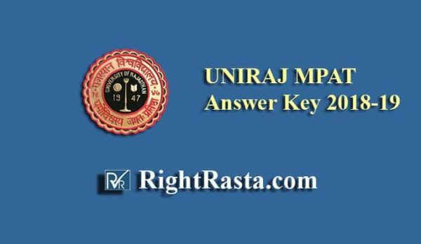 UNIRAJ MPAT Answer Key 2018-19