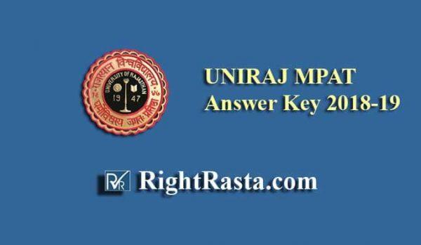 UNIRAJ MPAT Answer Key 2018-19