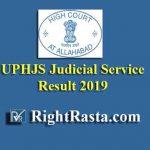 UPHJS Judicial Service Pre Result 2019