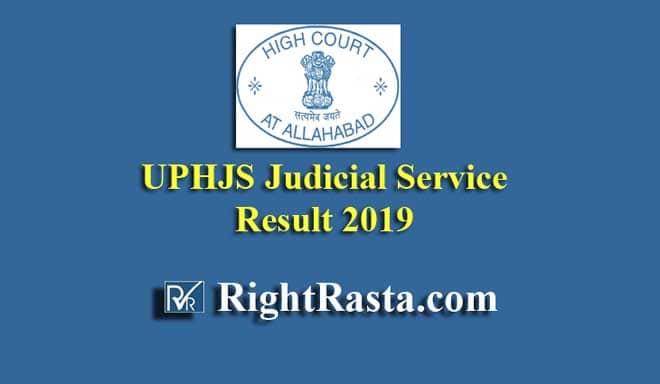 UPHJS Judicial Service Result 2019