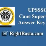 UPSSSC Cane Supervisor Answer Key 2019 | Download UPSSSC Ganna Paryavekshak Answer Key PDF