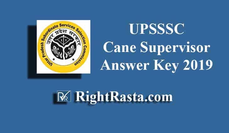 UPSSSC Cane Supervisor Answer Key