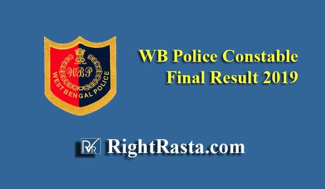 WB Police Constable Final Result 2019