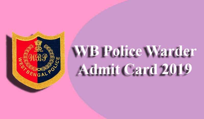 WB Police Warder Admit Card