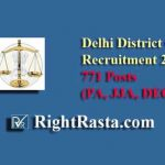Delhi District Court Recruitment 2019 (DEO, JJA, PA)