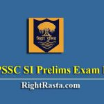 BPSSC SI Prelims Exam Date Bihar Police Sub Inspector Written Notice Download 2019