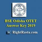 BSE Odisha OTET Answer Key 2019