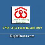 CWC JTA Final Result 2019