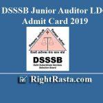 DSSSB Junior Auditor LDC Admit Card 2019
