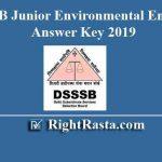 DSSSB Junior Environmental Engineer Answer Key 2019