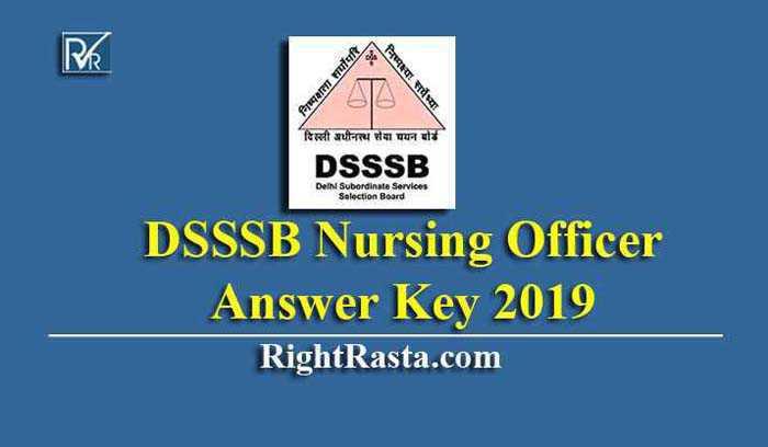 DSSSB Nursing Officer Answer Key