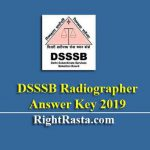 DSSSB Radiographer Answer Key 2019