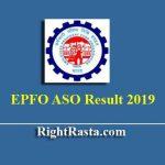 EPFO ASO Prelims Result With Marks 2019